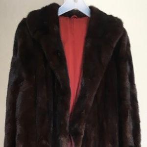Jackets & Blazers - Natural Mahogany Mink Fur Coat - Full Length
